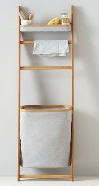 Bamboo Leaning Bath Shelf - Lean with it. This Leaning Bath Shelf is made from rapidly-renewable bamboo and recycled plastic bottles. With no supporting hardware necessary, just stash it in a bedroom corner or bathroom; it's too cute to hide in a closet. Bathroom Furniture, Bath Shelf, Bamboo Bathroom, Bathroom Shelves, Bathroom Decor, Bathroom Furniture Modern, Modern Bathroom Cabinets, Home Decor, Home Furnishings