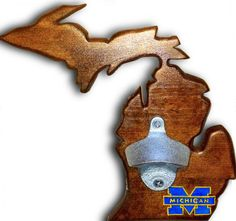 Handcrafted Univeristy of Michigan bottle opener by by DrinkLocal, $45.00