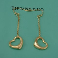Tiffany And Co Outlet Elsa Peretti Open Heart 18K Gold Earrings,Tiffany And Co Outlet,Official Quality & Tiffany & Co Outlet Sale Online!