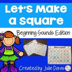 Do you need a fun early finisher or literacy center partner game to help teach and review beginning sounds recognition? Look no further! Your kids will love playing these fun and engaging games!    These are great partner games for early finishers or even for literacy centers. Students will take turns drawing one line at a time to connect two dots side by side, either vertical or horizontal. When one student completes a square around a letter/picture, they are able to claim that square.
