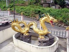 A golden dragon in Betong, in the far south of Thailand, little visited but interesting enough