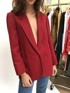 VINTAGE | Pendleton Wool Blazer - Dark Red (M)
