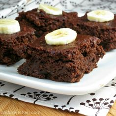 Chocolate Zucchini Brownies - so chocolaty, fudgy and good, you would never guess they're made with zucchini!