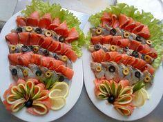 pikantes partybuffet. Оформление рыбной нарезки
