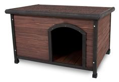 Aspen Pets Ruff Hauz Wood Offset Dog House