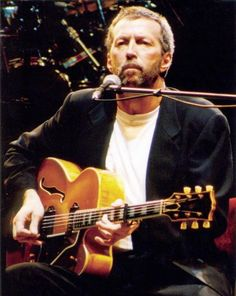 Eric Clapton performing with Archtop