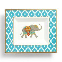 Decorative Plates - Elephant Rectangular Ceramic Plate | C. Wonder