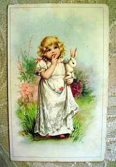 Very sweet Frances Brundage Trade Card from 1896.