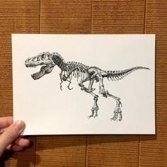 T-rex inspiration for rib tattoo