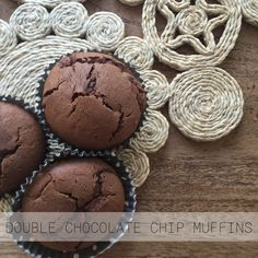 Double choc chip muffins   http://collectivestrand.com/2015/11/02/double-choc-chip-muffins/