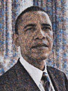 Robert Silvers | Barack Obama (2009) | Available for Sale | Artsy Photomosaic on aluminum
