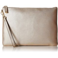 Calvin Klein Assorted Saffiano Pouch, Metallic Taupe ($64) ❤ liked on Polyvore featuring beauty products, beauty accessories, bags & cases and calvin klein