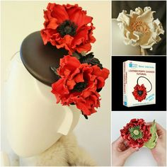 Leather poppy accessories