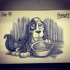 Inktober 2016 day 4 HUNGRY