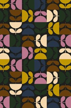 pattern: NEW SEASON - orla kiely Textile Pattern Design, Surface Pattern Design, Textile Patterns, Pattern Art, Fabric Design, 60s Patterns, Flower Patterns, Print Patterns, Orla Kiely Fabric