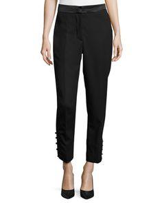 Straight-Leg+Satin-Band+Tuxedo+Pants,+Black+by+Oscar+de+la+Renta+at+Bergdorf+Goodman.