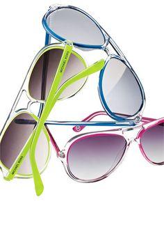 MICHAEL Michael Kors Aviator Sunglasses! I love the colors, I want one of each!