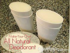 All Natural Deodorant Recipe & Tutorial - artsychicksrule.com #allnaturaldeodorant