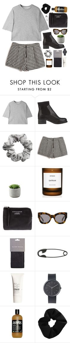"""""""JOIN MY GROUP."""" by emily-nevell ❤ liked on Polyvore featuring 3.1 Phillip Lim, Tony Bianco, H&M, Byredo, Acne Studios, Karen Walker, Other, Uniform Wares and Topshop"""