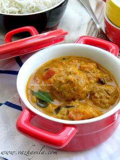 Vazhayila.com: Kerala style Meatball Curry