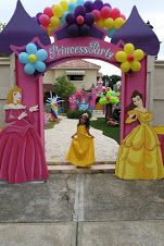 Jay D'Event Stylist By:arncamugao design. Princess Birthday Invitations, Princess Theme Party, Disney Princess Birthday, Water Birthday Parties, Princess Bridal Showers, Pamper Party, Cinderella Party, Balloon Decorations, Party Themes