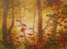 """""""Cooper's Hawk -Into Fall"""" by Floy Zittin"""