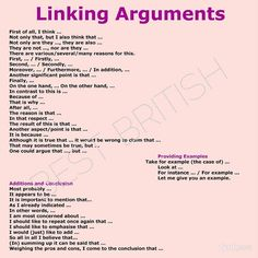 Linking Arguments