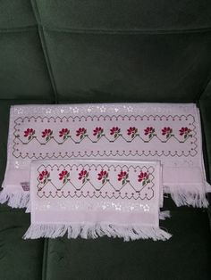 Ideas Para, Diy And Crafts, Model, Bags, Cross Stitch Embroidery, Towels, Craft, Embroidered Towels, Border Tiles