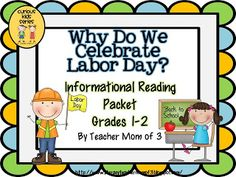 "Why Do We Celebrate Labor Day? is the newest product in my ""Curious Kids"" series! Appropriate for ADVANCED first graders, or use as a read-aloud. Use with on-level second graders. Also perfect to use for reading intervention for graders. Common Core Social Studies, Social Studies Lesson Plans, Kindergarten Social Studies, Teaching First Grade, Student Teaching, Activities For 1st Graders, Work Activities, Labor Day History, Lesson Plan Binder"