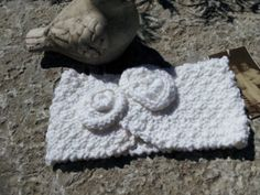 Knitted Cotton Baby Headband by LouisaVintageShop on Etsy