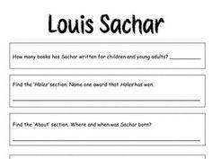 002 Teaching Ideas for Holes by Louis Sachar Louis sachar