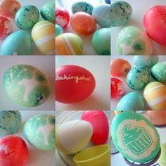 Swirled Easter eggs from Baking Bites