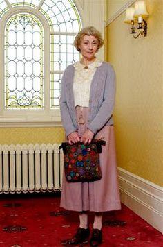 Miss Marple - carpet bag! My favourite Miss Marple at the moment.