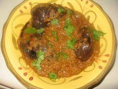 Biriyani Brinjal - Eggplant Gravy - Enna Kathikai - Bagara Bainghan