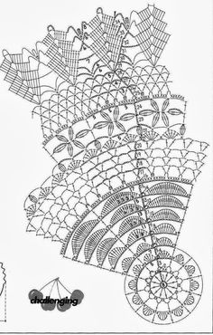 Weaving Arts in Crochet: Centerpieces Free Crochet Doily Patterns, Crochet Doily Diagram, Crochet Mandala, Crochet Chart, Thread Crochet, Crochet Motif, Crochet Stitches, Crochet Home, Love Crochet