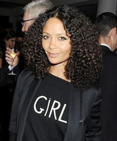 thandie newton..she started wearing her hair more natural for her daughters. She looks more gorgeous than ever