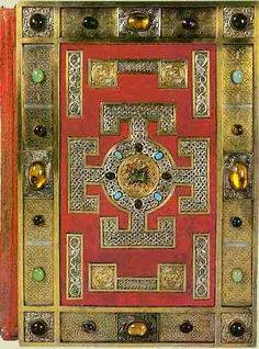 """The Lindisfarne Gospels - Front Cover, mentioned in the Sonlight Core A book """"I Heard Good News Today""""."""