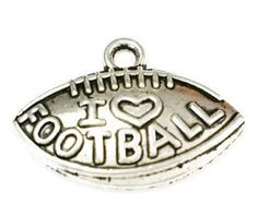 5 I Love Football Charms, Football Charms, Sports Charms, Jewelry Making Supplies, Keychain Charms, c35 by vickysjewelrysupply. Explore more products on http://vickysjewelrysupply.etsy.com
