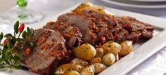 Receita de Alcatra Assada no Forno. Receitas deliciosas e muito mais você encontra em Saborosa Receita, seu site de culinária.