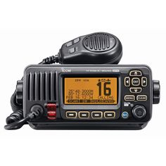 Icom M324G Fixed Mount VHF Marine Transceiver w/Built-In GPS - Black