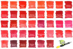All of our red fountain pen inks from our Red Fountain Pen Ink Comparison blog!