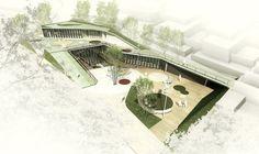 Landscape Architecture Design, Green Architecture, Concept Architecture, Futuristic Architecture, School Architecture, Plaza Design, Architecture Presentation Board, Urban Planning, Urban Design