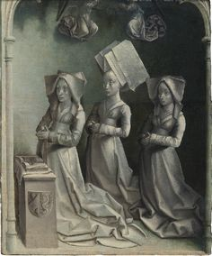 Jeanne Peschard et ses filles, par André d'Ypres, vers 1450