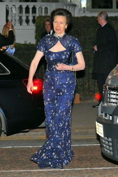 Princess Anne in a very lovely dress 2011.  Impressive figure for 60 years old.