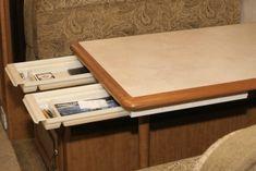 Drawer added to camper dinette booth