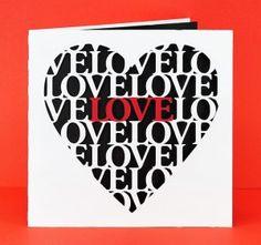 Love Heart Card by Bird - free cutting file