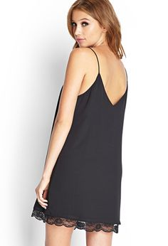 Lace-Trimmed Slip Dress | FOREVER21 - 2000067507