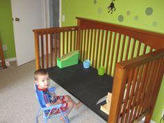 crib repurpose | Repurposed Crib > Chalkboard art table