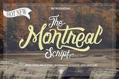 Montreal by uncurve on @creativemarket Montreal Script is one of taste of modern and classic touch , Inspiring of various artist of lettering , they make montreal have some alternates in every character to helping you make a perfect design with more possibilities.