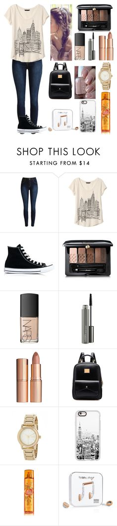 """Fall school outfit🍁"" by luna1116 ❤ liked on Polyvore featuring Banana Republic, Converse, Guerlain, NARS Cosmetics, MAC Cosmetics, Charlotte Tilbury, Essie, DKNY, Casetify and Happy Plugs"